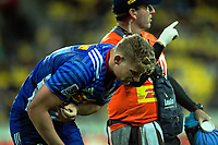 Robert Du Preez is subbed off injured during the Super Rugby match between the Hurricanes and Stormers at Westpac Stadium in Wellington, New Zealand on Friday, 5 May 2017. Photo: Dave Lintott / lintottphoto.co.nz