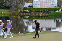 Matthew Wallace (ENG) arrives on the green on 18 during round 4 of the Arnold Palmer Invitational at Bay Hill Golf Club, Bay Hill, Florida. 3/10/2019.<br /> Picture: Golffile | Ken Murray<br /> <br /> <br /> All photo usage must carry mandatory copyright credit (© Golffile | Ken Murray)