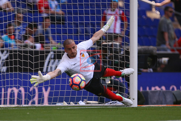 League Santander 2016/2017. Game: 37.<br /> RCD Espanyol vs Valencia CF: 0-1.<br /> Jaume Domenech.