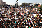 At least 200,000 people gathered to demonstrate against the 30-year regime of President Hosni Mubarak on Tahrir Square, Cairo Egypt, Feb. 1, 2011.