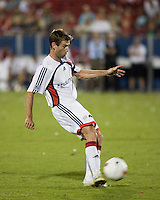 New England Revolution midfielder Steve Ralston (14) passes the ball.  New England Revolution defeated FC Dallas 3-2 to capture the 2007 Lamar Hunt U.S. Open Cup at Pizza Hut Park in Frisco, TX on October 3, 2007.