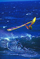 Windsurfing Hookipa beach, Maui