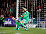 David De Gea of Manchester United makes a save during the premier league match at the Vitality Stadium, Bournemouth. Picture date 18th April 2018. Picture credit should read: David Klein/Sportimage