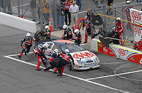 Feb 15, 2007; Daytona, FL, USA; Nascar Nextel Cup Series driver David Ragan (6) pits during race one of the Gatorade Duel at Daytona International Speedway. Mandatory Credit: Mark J. Rebilas