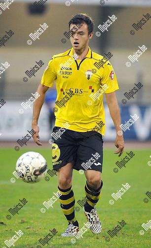 2014-09-06 / Voetbal / seizoen 2014-2015 / KV Turnhout - Berchem Sport / Franky Pelgrims<br /><br />Foto: Mpics.be