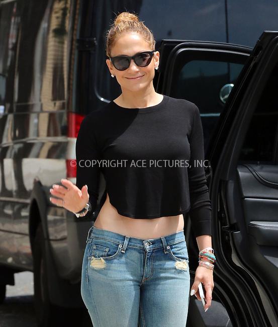 ACEPIXS.COM<br /> <br /> June 30 2014, New York City<br /> <br /> Singer Jennifer Lopez leaves her downtown apartment on June 30 2014 in New York City<br /> <br /> By Line: Zelig Shaul/ACE Pictures<br /> <br /> ACE Pictures, Inc.<br /> www.acepixs.com<br /> Email: info@acepixs.com<br /> Tel: 646 769 0430
