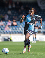 Gozie Ugwu of Wycombe Wanderers  in action during the Sky Bet League 2 match between Wycombe Wanderers and Plymouth Argyle at Adams Park, High Wycombe, England on 12 September 2015. Photo by Andy Rowland.