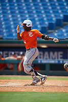 Eldridge Armstrong (16) of Oaks Christian High School in Simi Valley, CA during the Perfect Game National Showcase at Hoover Metropolitan Stadium on June 20, 2020 in Hoover, Alabama. (Mike Janes/Four Seam Images)
