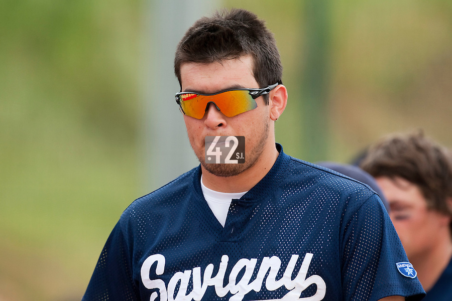 23 May 2009: Steven Huff of Savigny is seen during the 2009 challenge de France, a tournament with the best French baseball teams - all eight elite league clubs - to determine a spot in the European Cup next year, at Montpellier, France. Savigny wins 4-1 over Senart.
