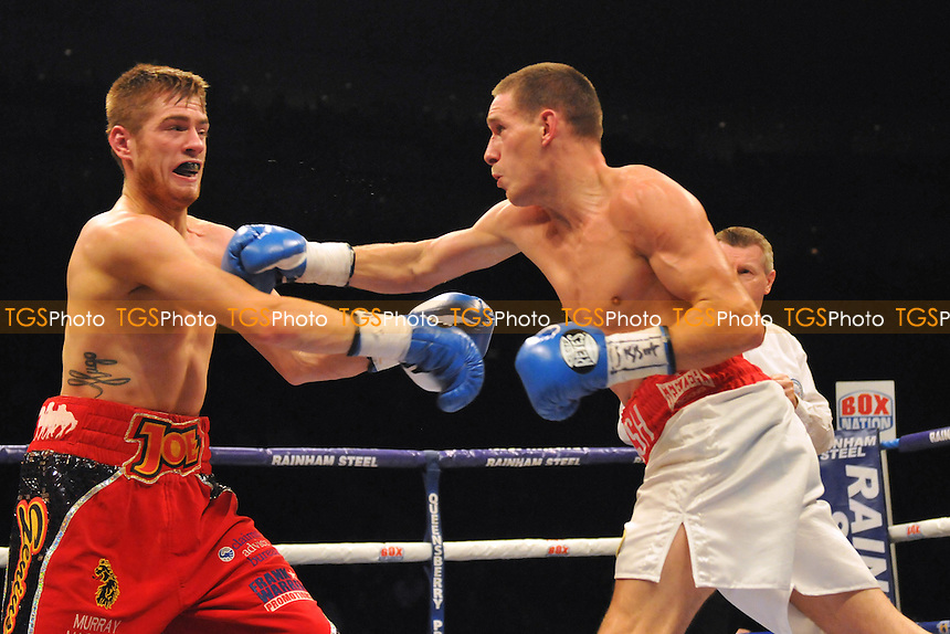 Liam Walsh (white shorts) defeats Joe Murray - Boxing at the O2 Arena, London - 28/02/15 - MANDATORY CREDIT: Philip Sharkey/TGSPHOTO - Self billing applies where appropriate - contact@tgsphoto.co.uk - NO UNPAID USE