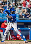 6 March 2019: Toronto Blue Jays outfielder Anthony Alford in action during a Spring Training game against the Philadelphia Phillies at Dunedin Stadium in Dunedin, Florida. The Blue Jays defeated the Phillies 9-7 in Grapefruit League play. Mandatory Credit: Ed Wolfstein Photo *** RAW (NEF) Image File Available ***