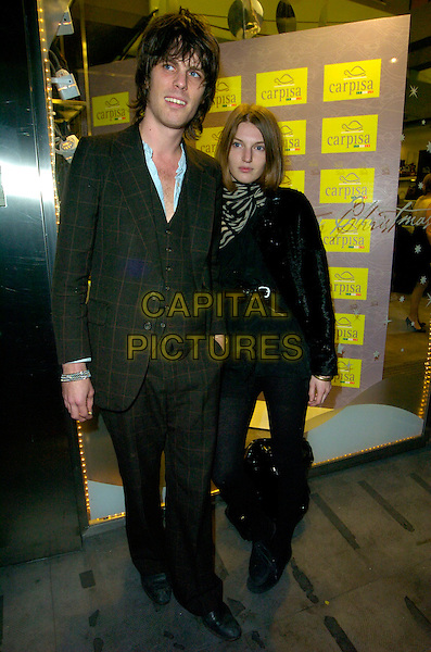 JACKSON SCOTT & BEN GRIMES.The Carpisa store launch party, Carpisa, 285 Oxford Street, London, England..November 7th, 2007.full length black jacket tweed grey gray suit waistcoat scarf bracelet .CAP/CAN.©Can Nguyen/Capital Pictures