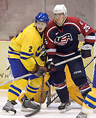 Niklas Andersson (Brynas IF), Adam Pineault (Moncton Wildcats - Columbus Blue Jackets)   The US Blue team lost to Sweden 3-2 in a shootout as part of the 2005 Summer Hockey Challenge at the National Junior (U-20) Evaluation Camp in the 1980 rink at Lake Placid, NY on Saturday, August 13, 2005.