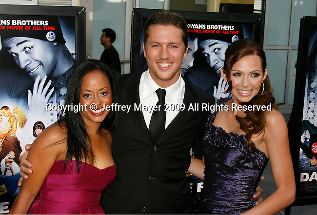 "HOLLYWOOD, CA. - May 20: Essence Atkins, Ross Thomas and Christina Murphy arrive at the Los Angeles Premiere of ""Dance Flick"" at the ArcLight Theatre on May 20, 2009 in Hollywood, California."