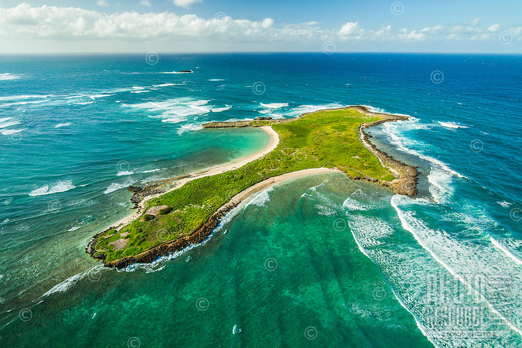 Goat Island in La'ie Bay includes a bird sanctuary, Windward O'ahu.
