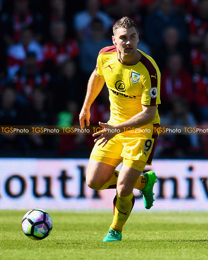 Sam Vokes of Burnley during AFC Bournemouth vs Burnley, Premier League Football at the Vitality Stadium on 13th May 2017