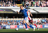 Luke Woolfenden of Ipswich Town drives forward under pressure from Marc McNulty of Sunderland during Ipswich Town vs Sunderland AFC, Sky Bet EFL League 1 Football at Portman Road on 10th August 2019