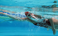 gswim  160295 8/22/09-- Chaparral swimmer Letecia Lelli works out at the Cactus Park Pool in Scottsdale.  (Pat Shannahan/ The Arizona Republic)