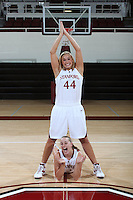 STANFORD, CA - SEPTEMBER 28:  Joslyn Tinkle and Mikaela Ruef during picture day on September 28, 2009 at Maples Pavilion in Stanford, California.