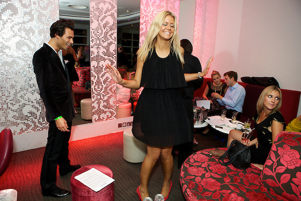 Mark-Francis from Made in Chelsea dancing at The Take Heart Ball, Kensington Roof Gardens, London