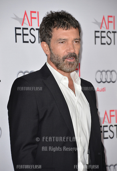 Actor Antonio Banderas at the premiere of his movie &quot;The 33&quot;, part of the AFI FEST 2015, at the TCL Chinese Theatre, Hollywood. <br /> November 9, 2015  Los Angeles, CA<br /> Picture: Paul Smith / Featureflash
