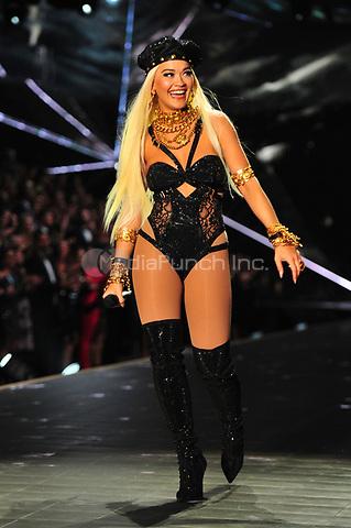 NEW YORK, NY - NOVEMBER 08: Rita Ora at the 2018 Victoria's Secret Fashion Show at Pier 94 on November 8, 2018 in New York City. Credit: John Palmer/MediaPunch