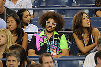 August 29, 2012: Stefan Kendal Gordy, aka Redfoo of LMFAO watching the Maria Sharapova match at Arthur Ashe Stadium at the USTA Billie Jean King National Tennis Center in New York City. ..© mpi04 / Mediapunchinc /NortePhoto.com<br />