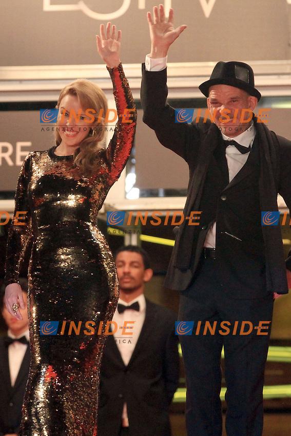 Equipe du film de Leos Carax avec Kylie Minogue, Denis Lavant, Edith Scob
