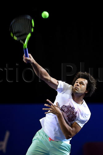 February 6th 2017, Montpellier, France; Open Sud de France tennis tournament;  Jo Wilfried Tsonga (Fra)