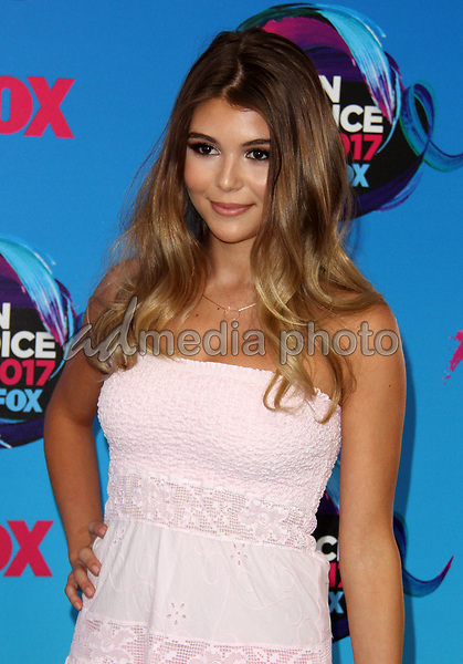 13 August 2017 - Los Angeles, California - Olivia Jade Giannulli. Teen Choice Awards 2017 Arrivals held at The Galen Center in Los Angeles. Photo Credit: AdMedia
