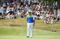 Getting ready to make birdie on the last for -10 is Jaco Van Zyl (RSA) during Round Three of the 2015 Alstom Open de France, played at Le Golf National, Saint-Quentin-En-Yvelines, Paris, France. /04/07/2015/. Picture: Golffile | David Lloyd<br /> <br /> All photos usage must carry mandatory copyright credit (© Golffile | David Lloyd)