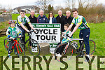 Pictured at the St.Kieran's GAA Club Cycle Tour launch in An Riocht Castleisland on Saturday were L-R: Isaac Brosnan, Sean O'Connell, Castleisland, Jackie Brosnan, Cordal, Tim Dineen, Scartaglin, Helen O'Connel, Castleisland, Jack O'Connell, Dan Nelligan, Knocknagoshel, Abbie Brosnan, Luka Brosnan, Castleisland.