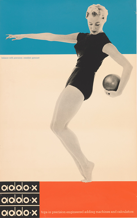 Ladislav Sutnar (American and Czech, 1897–1976) for A. B. Addo (Malmö, Sweden). Addo-x, 1958. Offset lithograph. 96.8 x 61.3 cm (38 1/8 x 24 1/8 in.). Gift of Anonymous Donor, 1994-109-7. Photo by Matt Flynn.