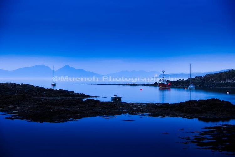Midnight on Isle of Mull, Scotland