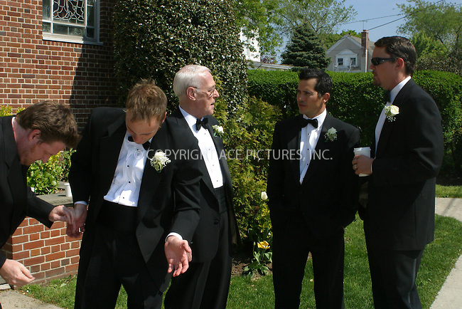 WWW.ACEPIXS.COM . . . . .***EXCLUSIVE!!! FEE MUST BE NEGOTIATED BEFORE USE!!!***....NEW YORK, MAY 10, 2005....Matthew Lillard, John Leguizamo, Donal Logue, John Mahoney and Jay Mohr on the set of the new Ed Burns film 'The Groomsmen.'....Please byline: PAUL CUNNINGHAM - ACE PICTURES..... *** ***..Ace Pictures, Inc:  ..Craig Ashby (212) 243-8787..e-mail: picturedesk@acepixs.com..web: http://www.acepixs.com