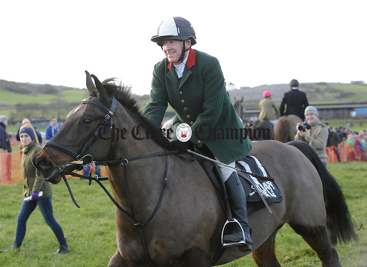 Morgan O Brien at the Clare Hunt annual Point to Point at Bellharbour. Photograph by John Kelly.