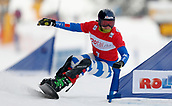 18th March 2018, Winterberg, Germany;  Snowboard World Cup, team parallel slalom. Nadya Ochner of Italy in action.