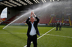Chris Wilder new manager of Sheffield Utd is introduced to the crowd during the PDL U21 Final at Bramall Lane Sheffield. Photo credit should read: Simon Bellis/Sportimage