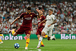 Real Madrid's Mariano Diaz and AS Roma's Federico Fazio during Champions League match. September 19, 2018. (ALTERPHOTOS/A. Perez Meca)