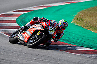 9th July 2020; Circuit de Barcelona Catalunya, Barcelona, Spain; FIM Superbike World Championship Test, Day Two; Chaz Davies of the Aruba.it Racing Team rides the Ducati Panigale V4 R