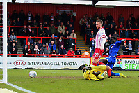 Dean Bowditch of Stevenage scores the second goal for his team and celebrates during Stevenage vs Crewe Alexandra, Sky Bet EFL League 2 Football at the Lamex Stadium on 10th March 2018