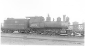 Engineer's-side view of D&amp;RGW #268 stored at Alamosa.<br /> D&amp;RGW  Alamosa, CO  Taken by Nixon, R. V. - 5/11/1933