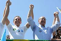 23.09.2018 - Alckmin e Doria durante campanha no Pq Ibirapuera em SP