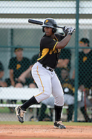 Pittsburgh Pirates outfielder Nicholas Buckner (13) during an Instructional League intersquad scrimmage on September 29, 2014 at the Pirate City in Bradenton, Florida.  (Mike Janes/Four Seam Images)