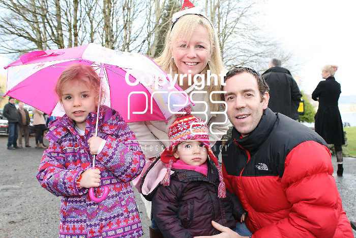 Ali, Beth, Shelly and Fergus O'Neill at the Christmas day swim at Killaloe. Picture: Marie McCallan /Press 22