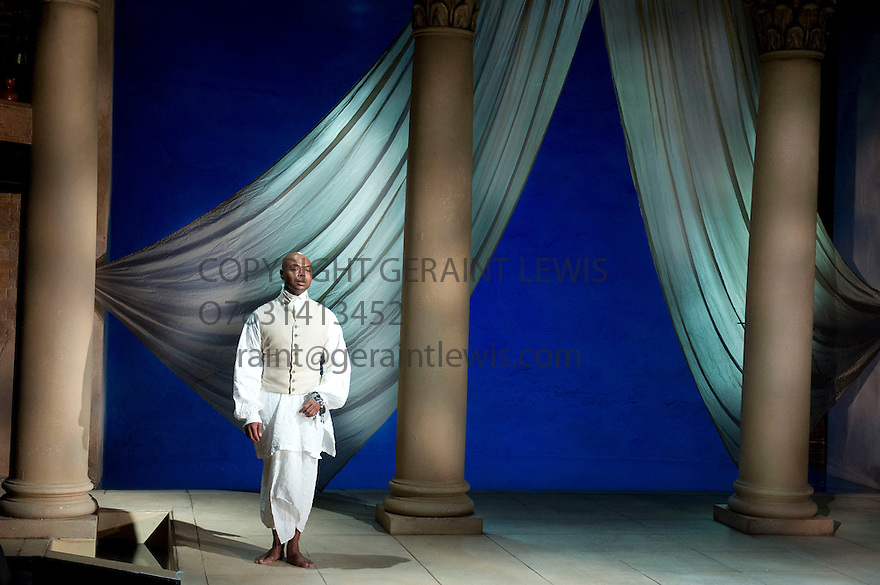 Antony and Cleopatra by William Shakespeare, A Royal Shakespeare Company Production directed by Tarell Alvin McCraney. With Chivas Michael as Soothsayer.. Opens at The Swan Theatre, Stratford Upon Avon   on 13/11/13  pic Geraint Lewis