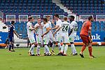 16.07.2017, Stadion an der Bremer Bruecke, Osnabrueck, GER, FSP VfL Osnabrueck vs SV Werder Bremen<br /> <br /> im Bild<br /> Aron J&oacute;hannsson / Johannsson (Werder Bremen #9) bejubelt seinen Treffer zum 0:1 mit Johannes Eggestein (Werder Bremen #24), Florian Kainz (Werder Bremen #7), Zlatko Junuzovic (Werder Bremen #16), Marius Gersbeck (VfL Osnabrueck #21)<br /> <br /> Foto &copy; nordphoto / Ewert