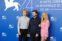 British director Andrew Haigh, left, and U.S. actors Charlie Plummer, left, and Chloe Sevigny attend a photo call for the movie 'Lean On Pete' at the 74th Venice Film Festival, Venice Lido, September 1, 2017. <br /> UPDATE IMAGES PRESS/Marilla Sicilia<br /> <br /> *** ONLY FRANCE AND GERMANY SALES ***