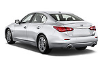 Car pictures of rear three quarter view of 2017 Infiniti Q50 Hybrid-Premium 4 Door Sedan Angular Rear