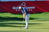 Bethesda, MD - June 25, 2016: Billy Hurley III watches his putt on the 17th hole during Round 3 of professional play at the Quicken Loans National Tournament at the Congressional Country Club in Bethesda, MD, June 25, 2016.  (Photo by Don Baxter/Media Images International)
